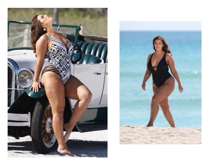 Ashley Graham Advertised Her New Swimwear Range Using Untouched Paparazzi Images